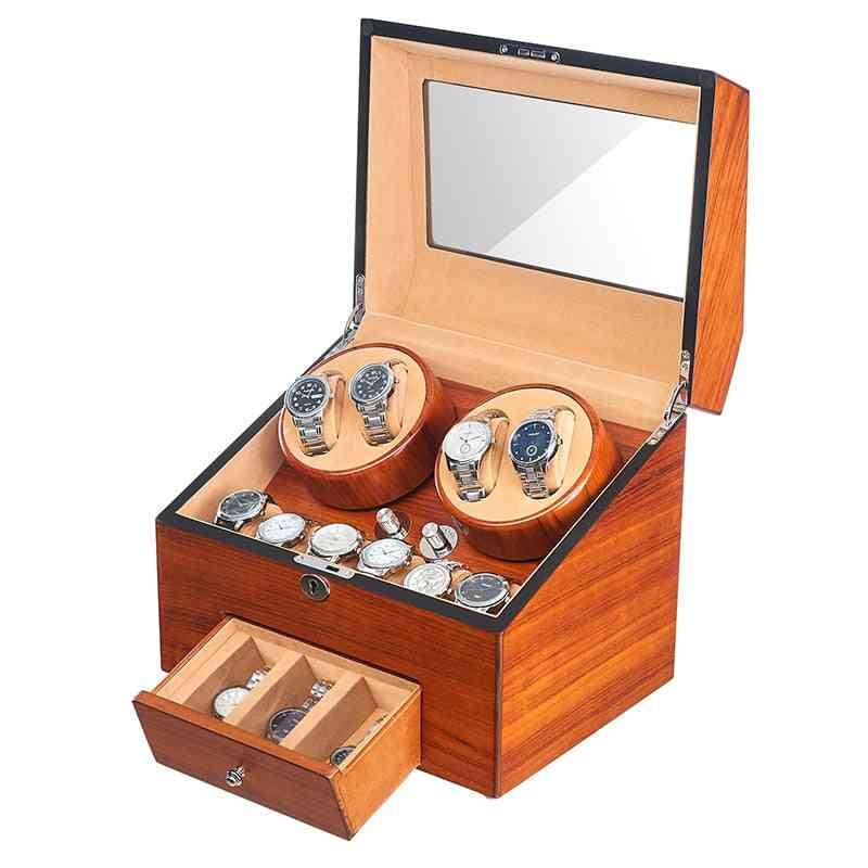 Automatic Wood Watch Winder Display Box