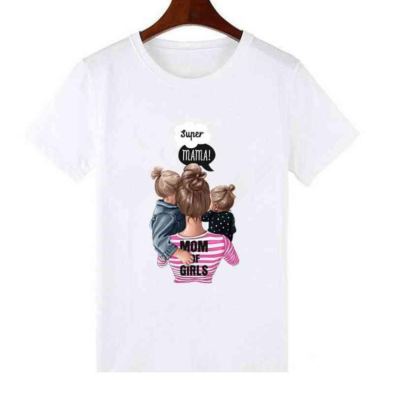 Family Matching T-shirt, Women Daughter Mum T-shirt, Tops