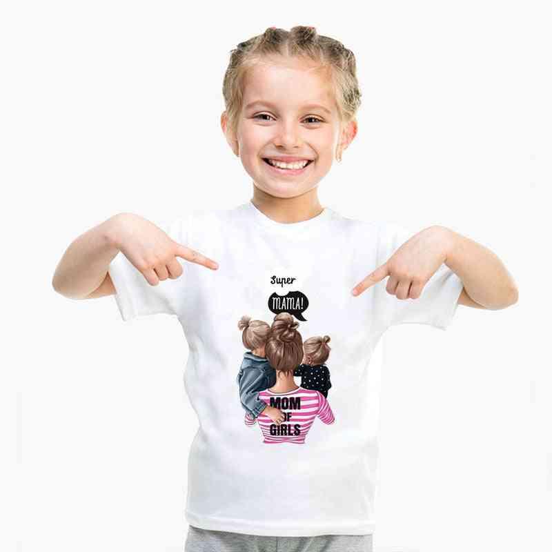Family Clothes T-shirt, Women Daughter Mum T-shirt, Tops