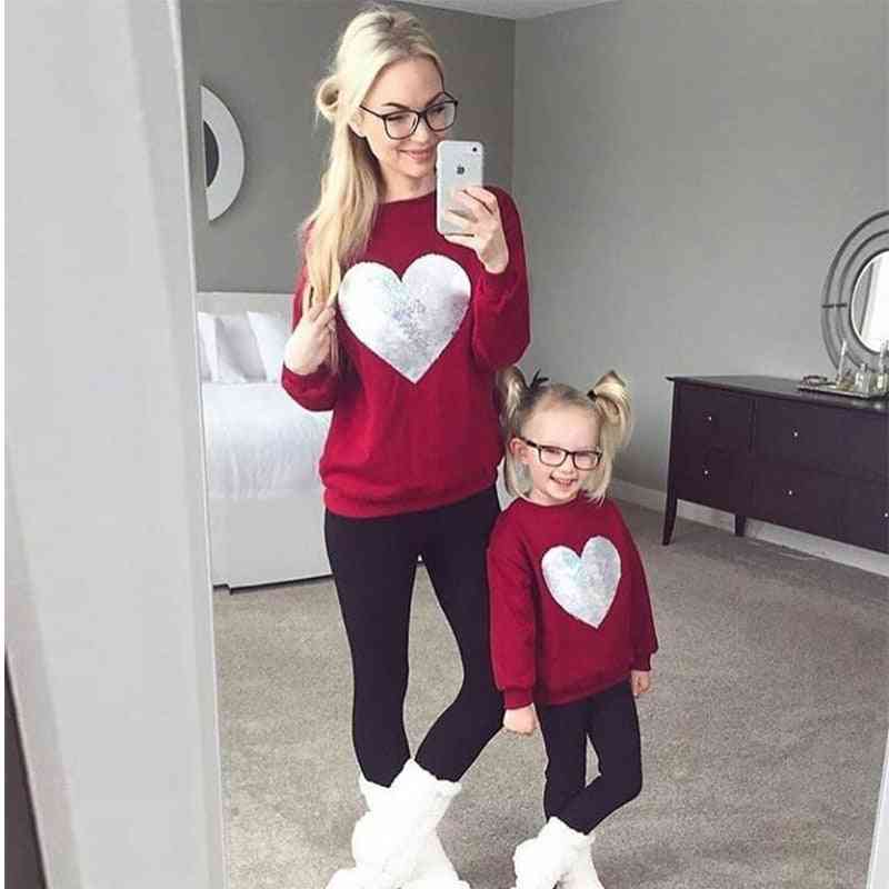 Casual Hoodies Clothes, Mother And Daughter Clothes