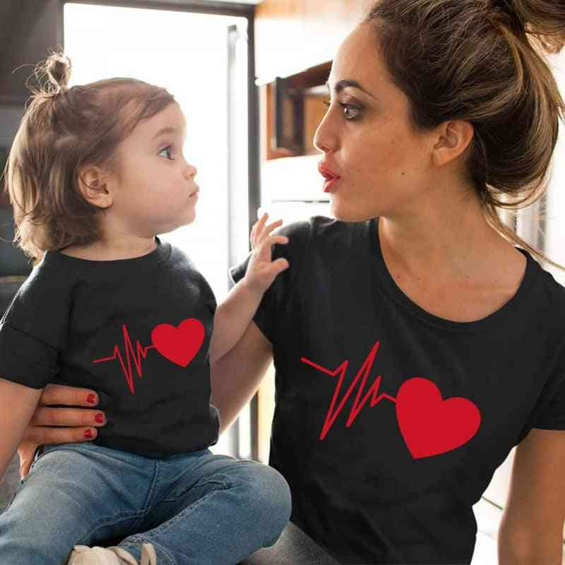 Love Mommy Clothes, Heartbeat T-shirt, Baby T-shirt