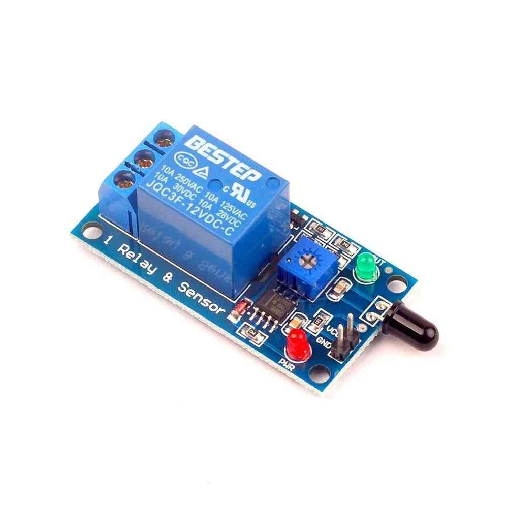 12v Flame Sensor Module Fire Detection Fire Alarm Sensor Relay Module