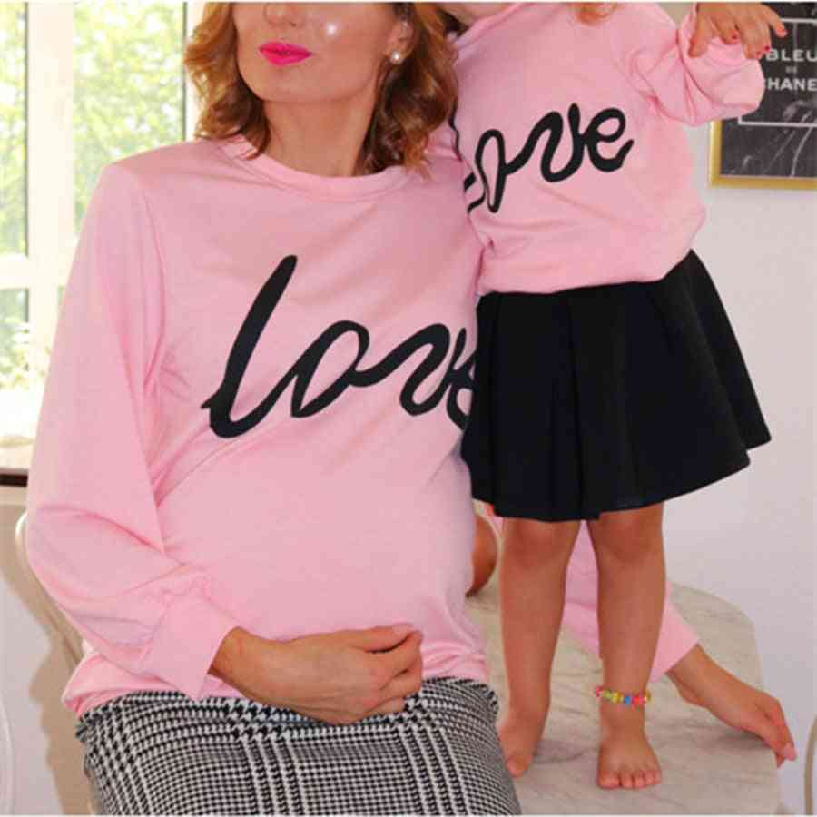 Family Mother And Daughter Clothes, Mommy Baby Hoodie