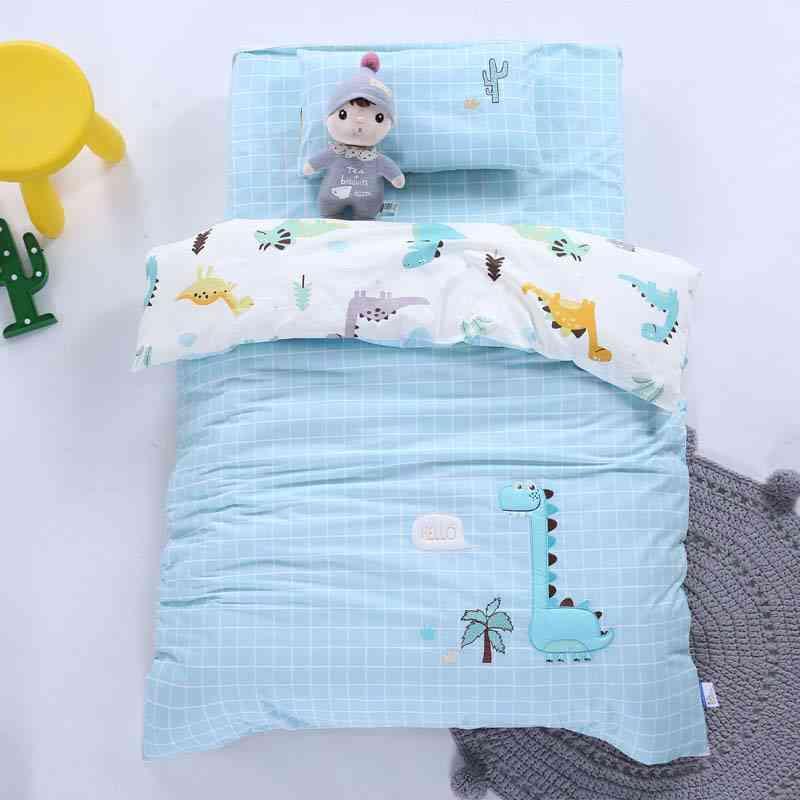 Children Bedding Set, Kids Quilt Cotton Kindergarten Quilt Cover, Bed Sheets, Baby Crib