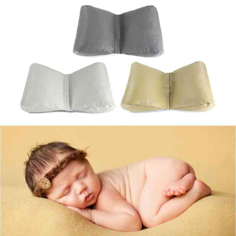 Pu Leather Newborn Photography Props, Cycle Wedge Shaped Pillow, Baby Photo Backdrop Basket Stuffer