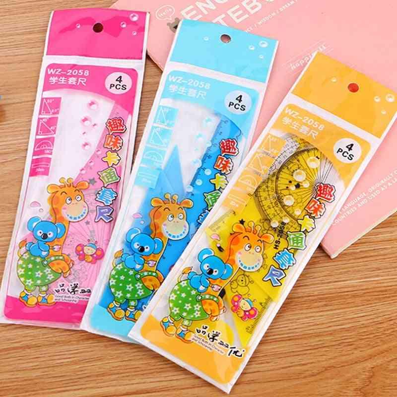 Student Ruler Cute Cartoon  Colors Giraffe Animal Students' Ruler