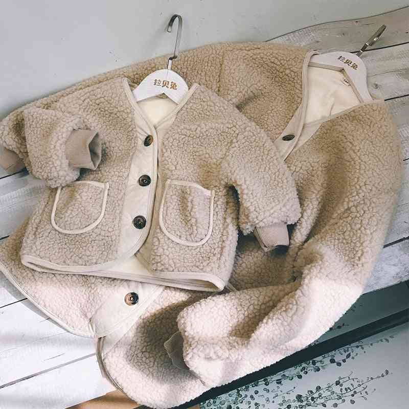 Winter Family Outfit Warm Mother And Daughter/son Coat
