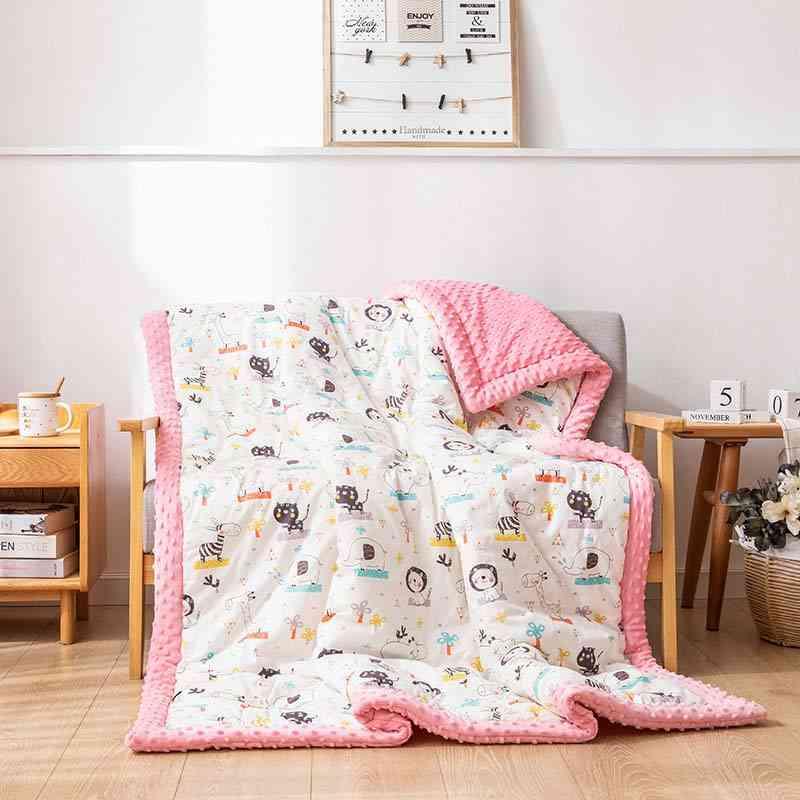 Kids Warm Skin Blankets,'s Peas Baby Quilt, Newborn Cover, Super Soft, Cartoon Blanket