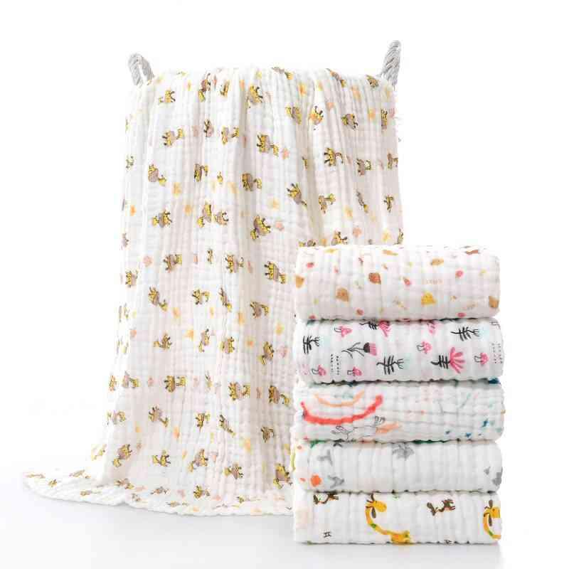 Baby Cotton Bath Towel, Blanket Cotton Quilt, Infant Bedding Swaddle Wrap
