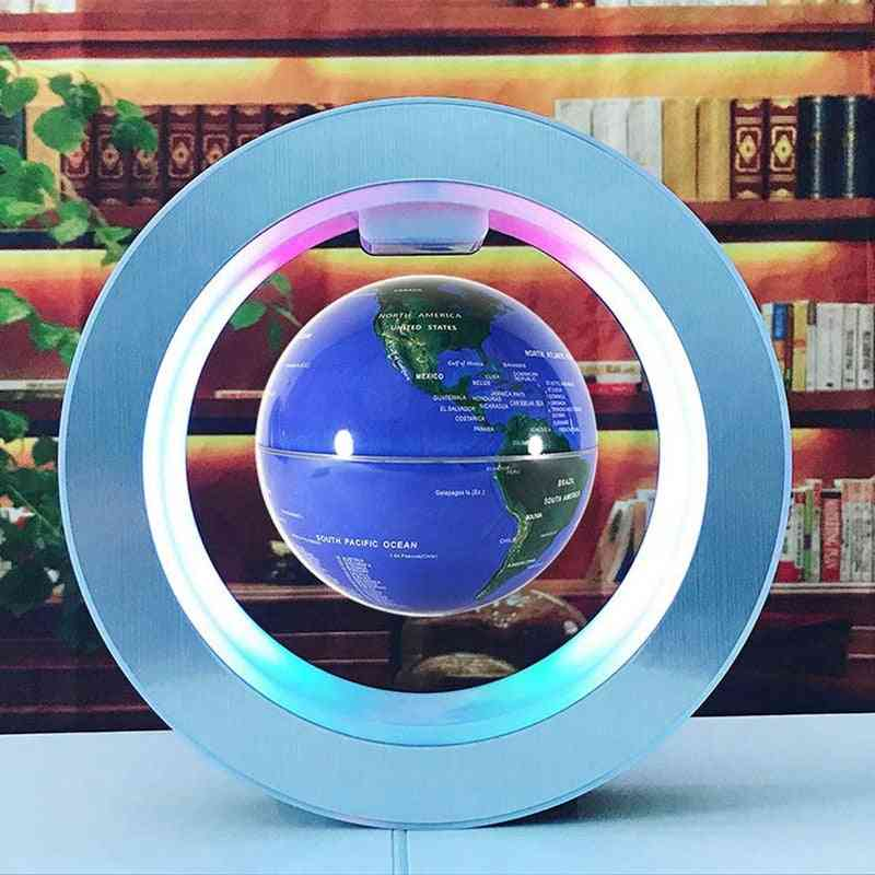 Magnetic Levitation Globe Rotating Magnetic Ball Air World Map For Office Set Off