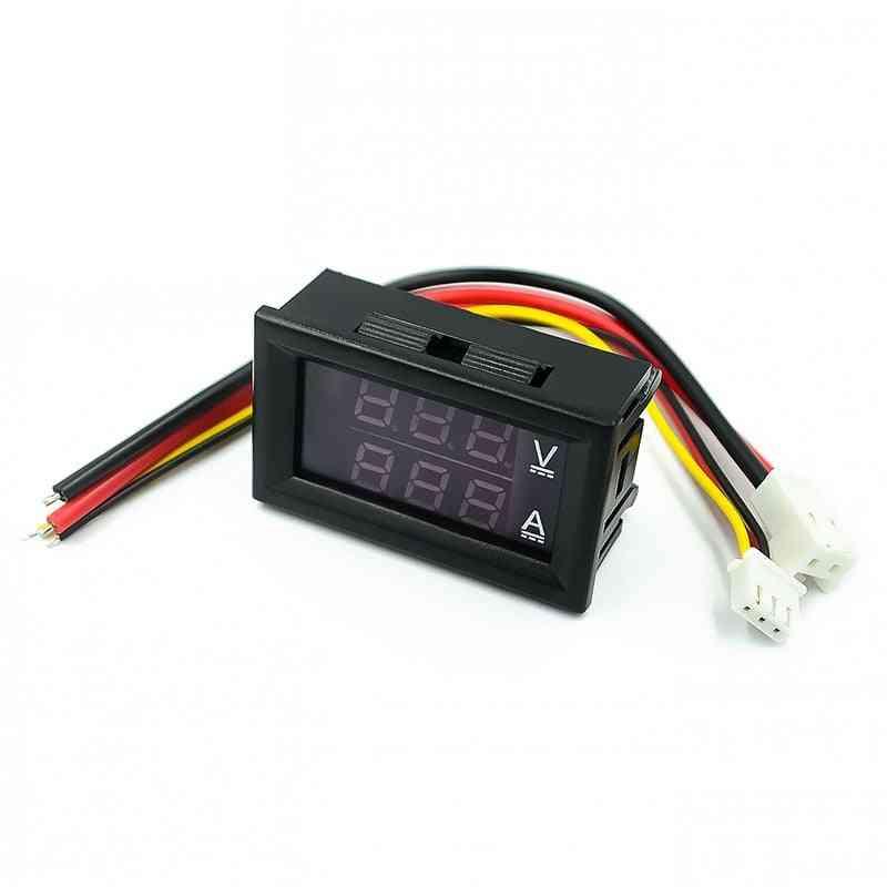 Voltmeter Ammeter Red Blue Led Amp Display