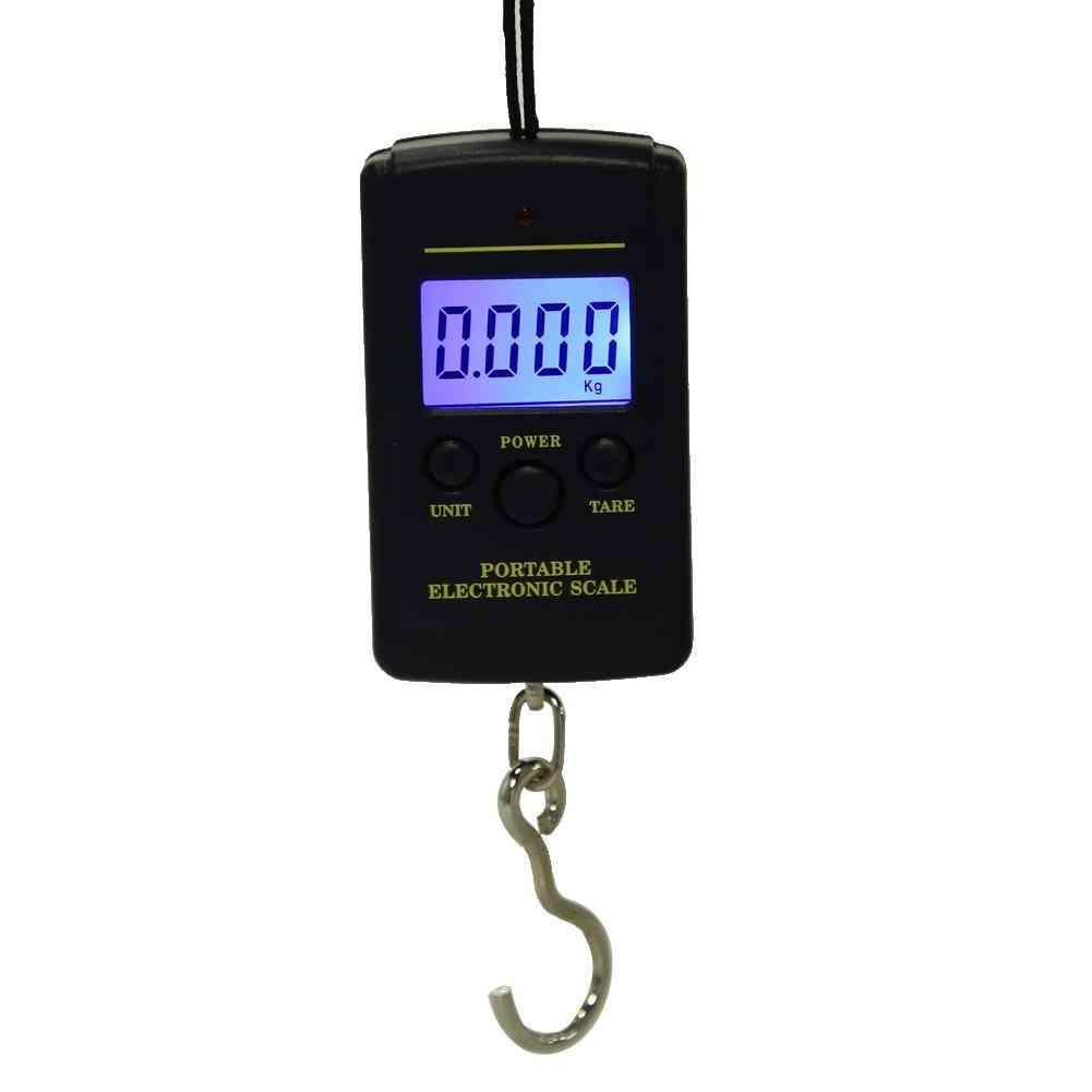Mini Digital Scale For Fishing Luggage Travel Weighting Steelyard Hanging Tool