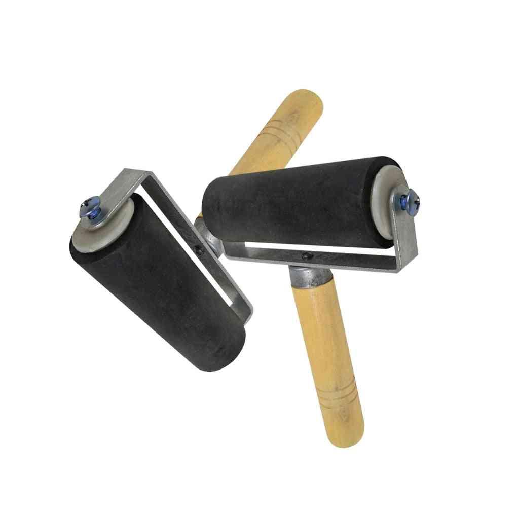 Woodblock Deluxe Hard Rubber Brayer Roller Heavy Duty Steel Frame Art Craft Tool