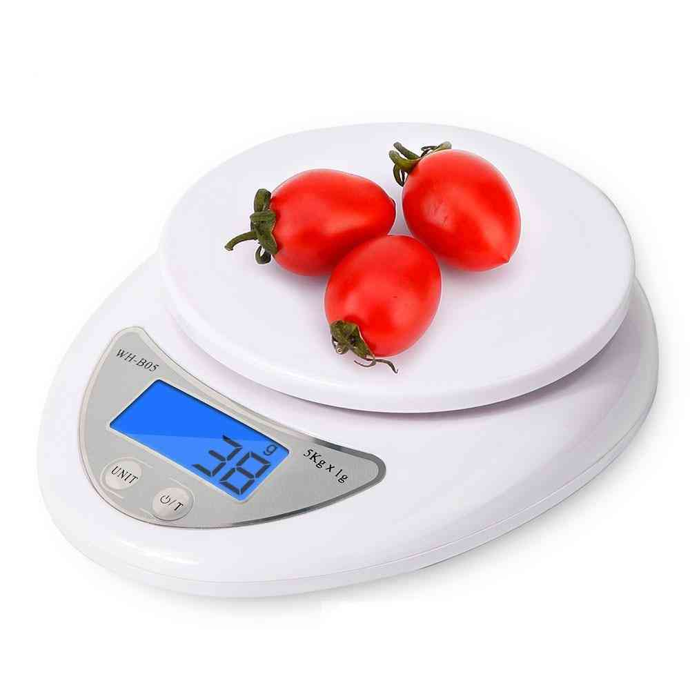 5kg/1g Lcd Digital Scale For Kitchen Food Cooking Scale