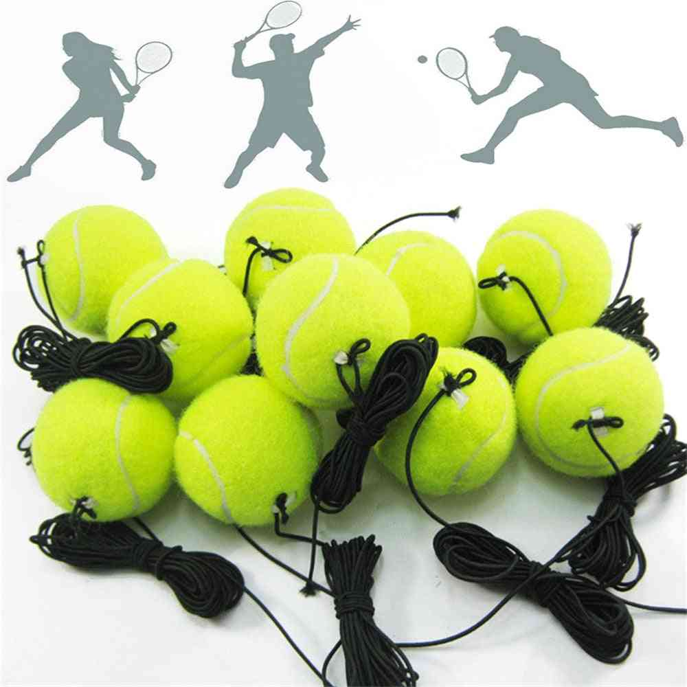 Professional Tennis Training Ball With 4m Elastic Rope Rebound Practice Ball With String Portable Tennis Train Balls