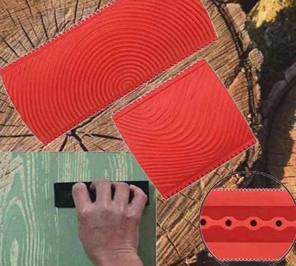 Imitation Wood Graining Pattern Wall Texture Art Diy Rubber Painting Tool