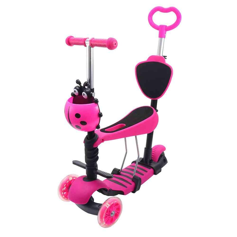Mini Kick Wheel Scooter, Flashing Led, Wheels Tilt Push Seat, Kick Scooters, Foot Home Party