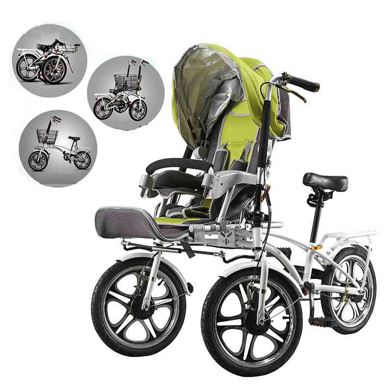 Lion Heart Bicycle Stroller Shopping Cart With Mosquito Net & Rain Cover