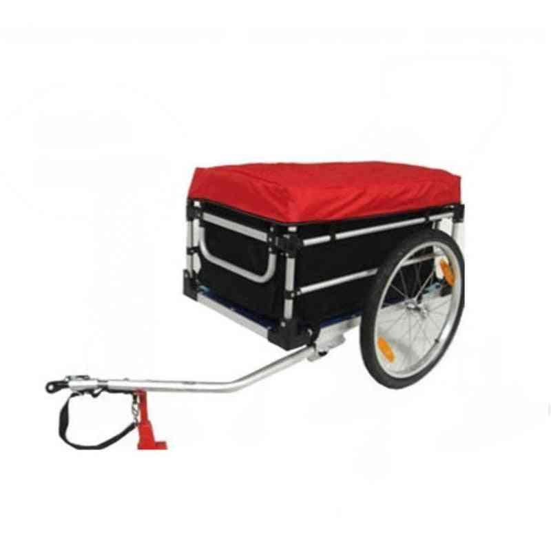 Bike Cargo Bicycle Trailer With Rain Cover, Alluminium Alloy Frame, Wagon Kids Cart