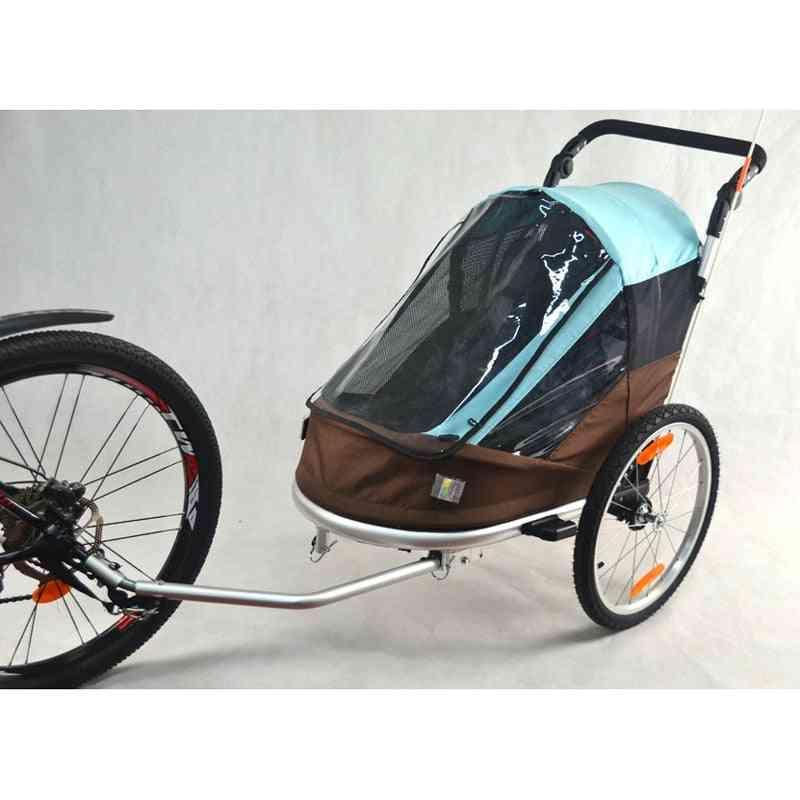 Bike Trailer, Inflatable Wheel, Multisport Wagon Baby Stroller/jogger With Adjustable Handle