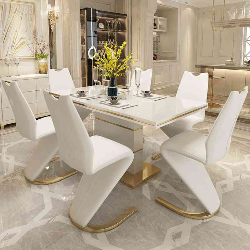 2 Pieces Chairs Modern Simple Z Shape Dining Chair