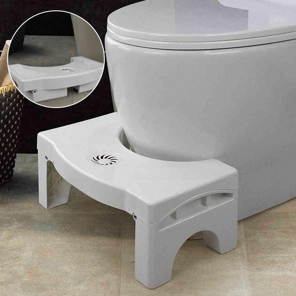 Foldable Toilet Squatting Stool, Non-slip Toilet Footstool