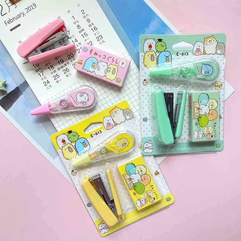 Cute Cartoon Sumikko Gurashi Mini Stapler Set Japanese School Accessories