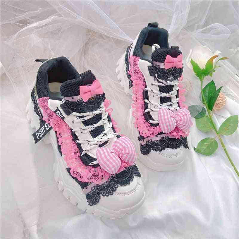 Style Platform Shoes, Sweet Sneakers Kawaii Shoes