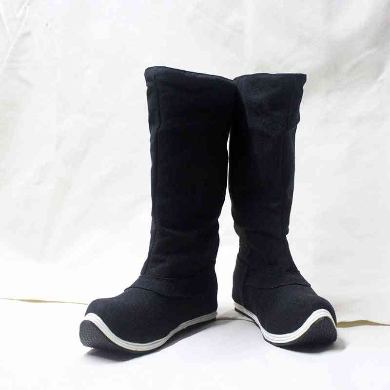 Black Cocked Toe Official Boots, Hanfu Clothing Accessories