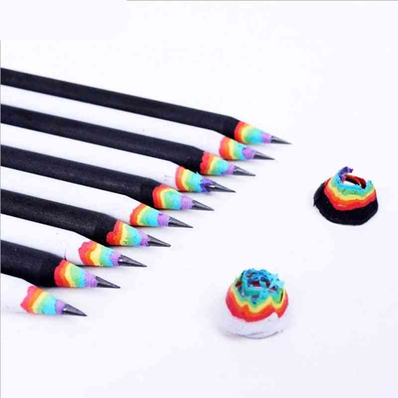 Rainbow Color Pencil Stationery Items