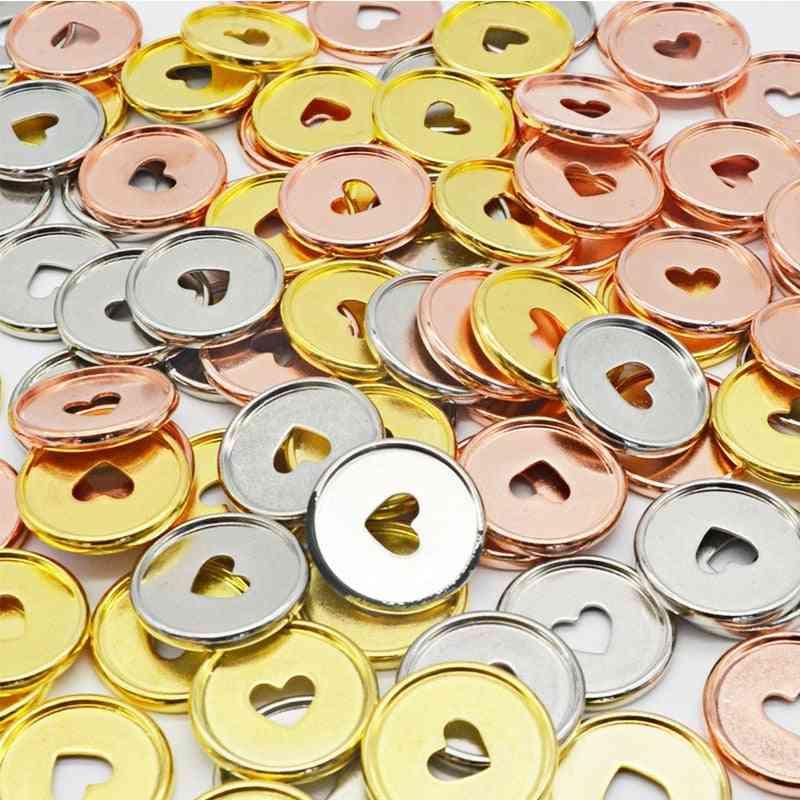 Rose Gold Heart Binder Rings Notebook Round Binding