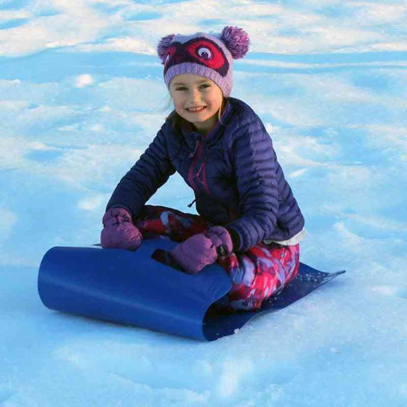 Sports Skiing Pad Sled Foldable Snowboard Flexible Roll Up