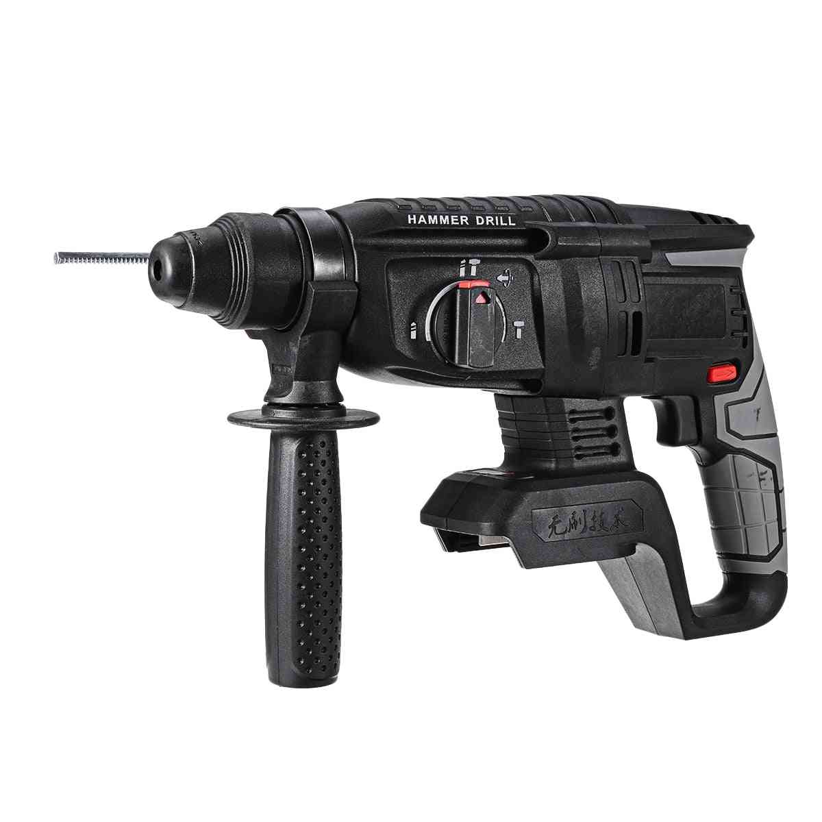 Electric Rotary Hammer Rechargeable Multifunction Hammer Impact Power Drill Tool