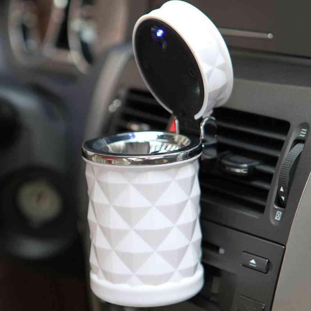 Portable Led Light Car Ashtray
