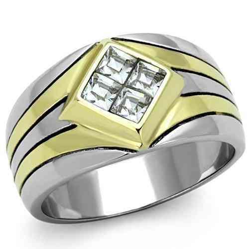 Men Stainless Steel Synthetic Crystal Rings Tk1610