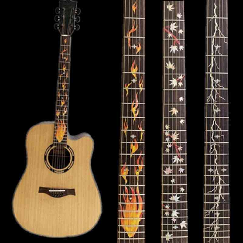 Cross Inlay Decals Fretboard Sticker For Electric Acoustic Guitar