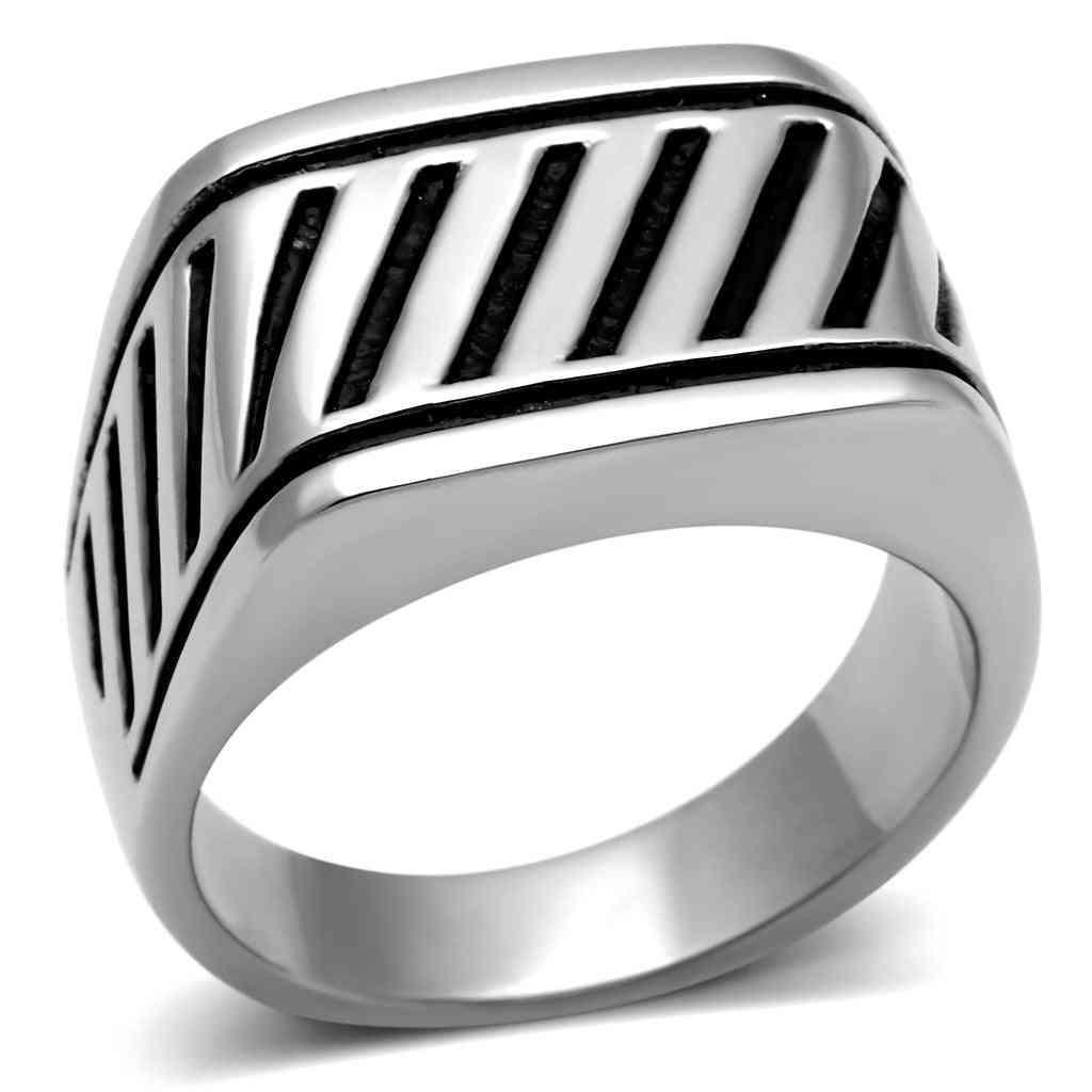 Men Stainless Steel No Stone Rings Tk380