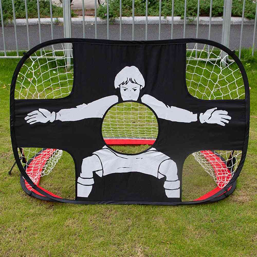 Foldable 2 In 1 Football Gate Net & Goal Door Set