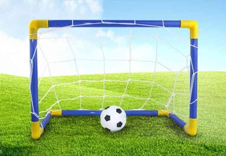 Little Kid Premium Portable Soccer Goal Set / Football Play Kit