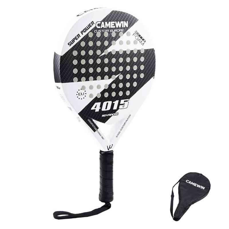 Carbon And Glass Fiber Padel, Tennis Racket, Men, Women, Popular Sport, Soft Face Tennis Paddle Racquet With Bag Cover