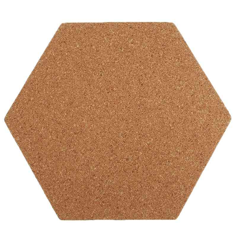 Self-adhesive Cork Board Tiles, Office, Home, Wood Photo Background, Hexagon Stickers, Wall Message Bulletin Boards