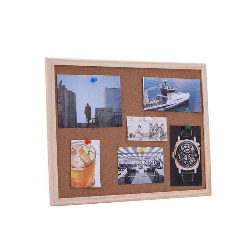 Cork Board, Pine Wood Frame, White Boards, Home, Office Decorative