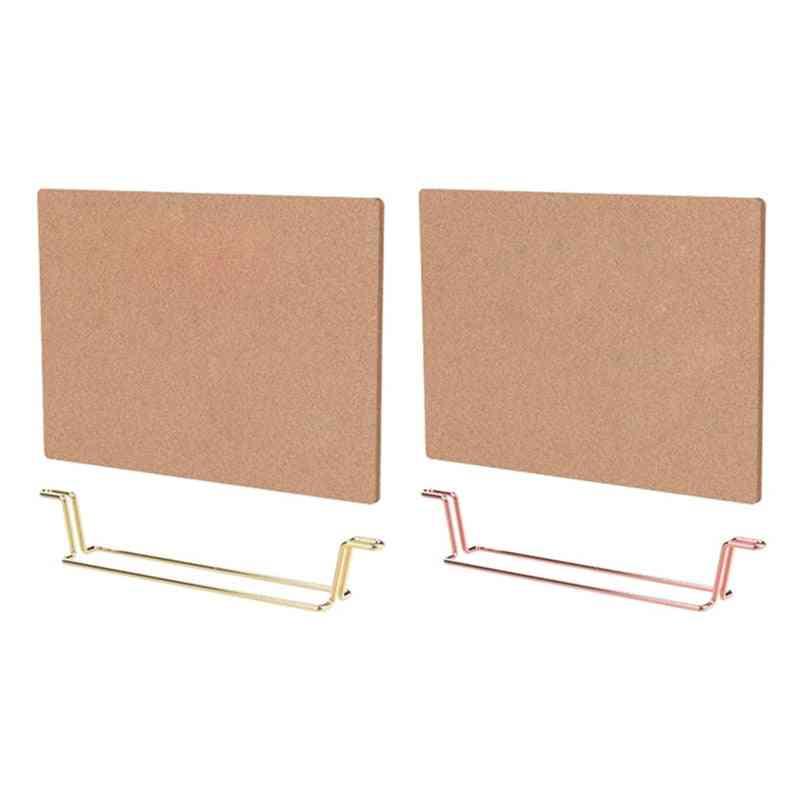 Natural Message Cork Board, Environmentally Memo Pin Board, Home, Office, Notice Display, Organizer Supply