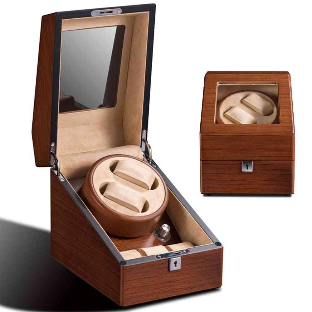 Automatic Wood Watch, Winder Box, Winding Rotator, Case Cabinet, Battery Remontoir