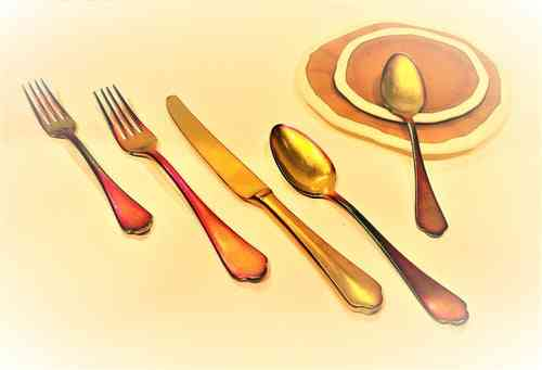 Cutlery Set 5 Pcs Dolce Vita Pewter Rainbow