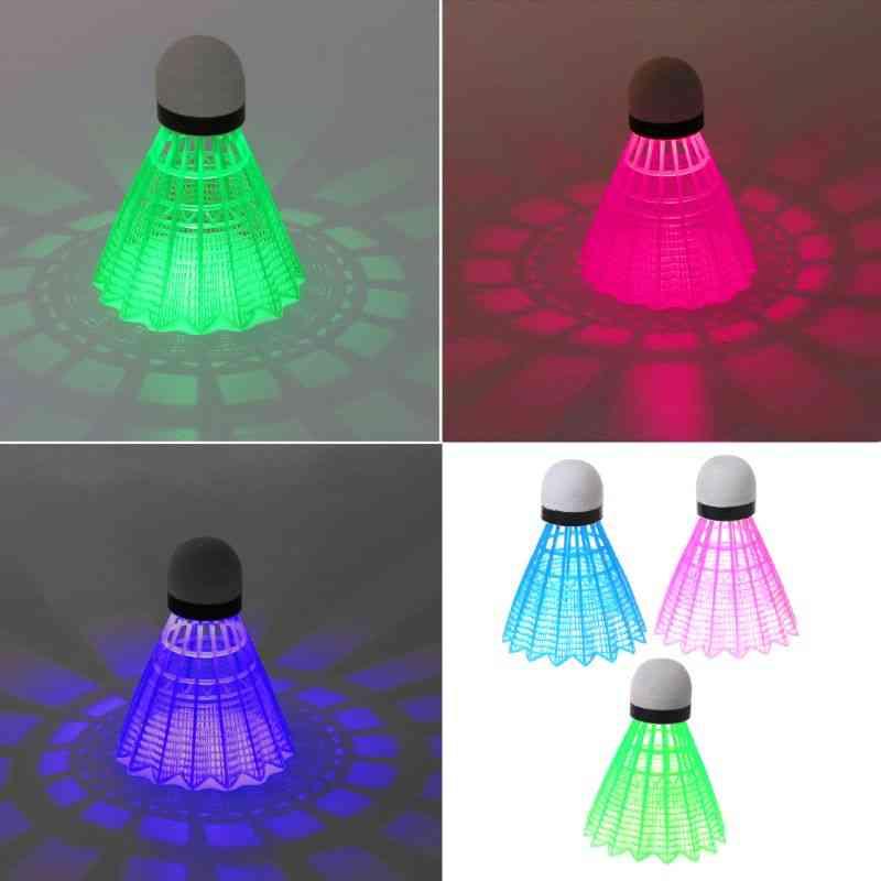 Led Luminous Badminton Dark Night Colored Plastic Foam Glowing Shuttlecocks