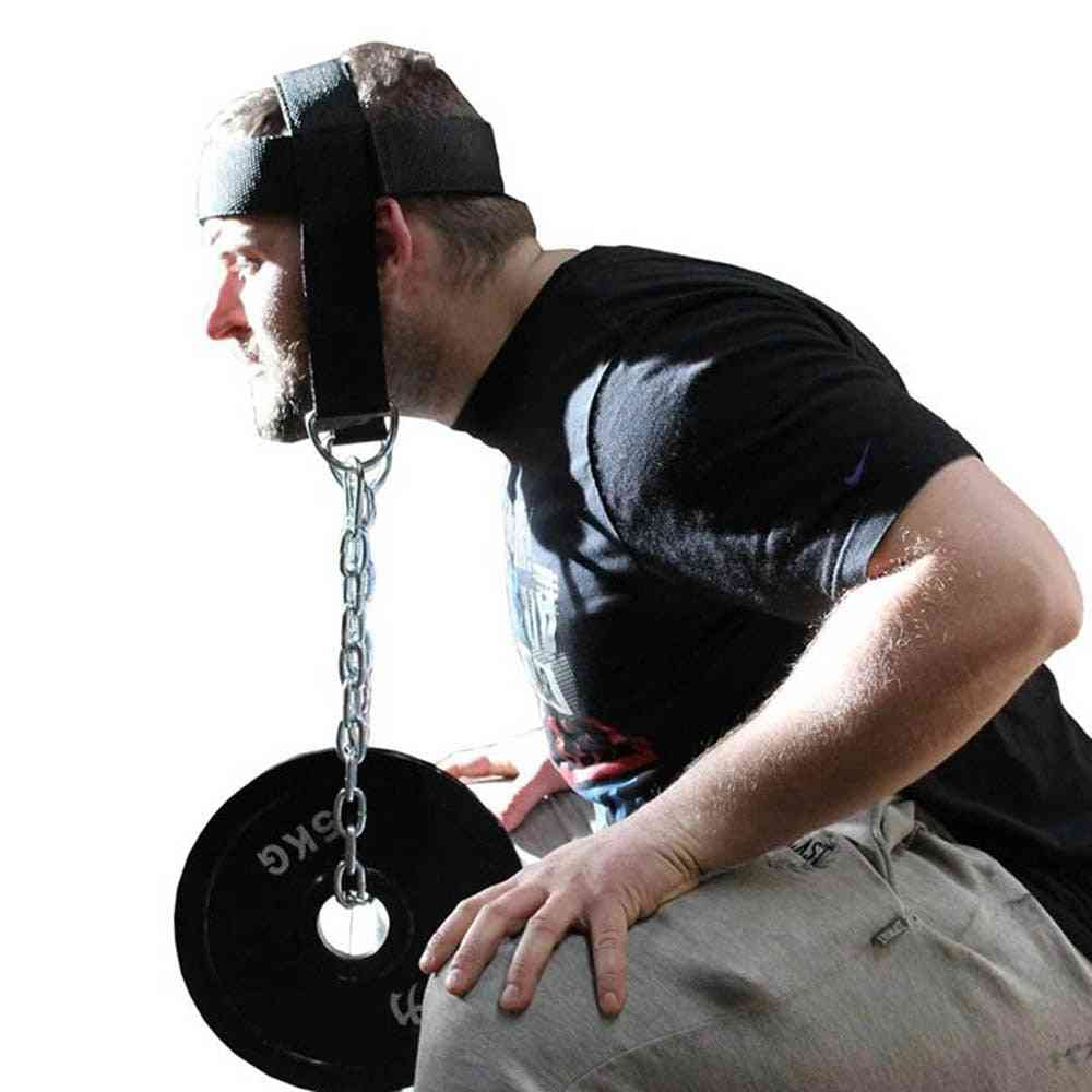 Head Neck Training, Harness Body Strengh Exercise Strap, Adjustable Power Training Gym Fitness, Weight Bearing Cap