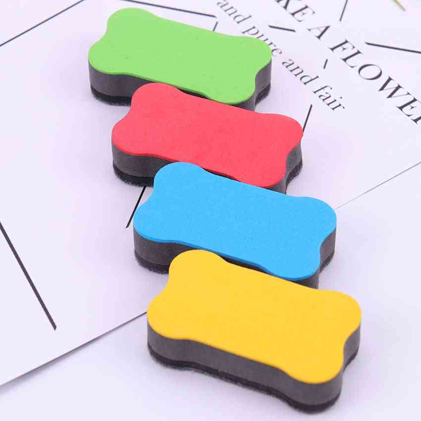 Cartoon Bone Blackboard Eraser, Magnetic White Board Erasers, School, Office, Whiteboard Marker Cleaner Tool