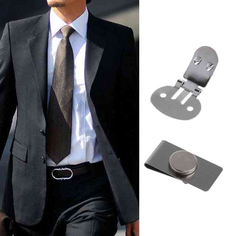 Practical Magnetic Tie Clip, Invisible, Elegant, Men's Suit Jacket, Stainless Steel Magnetic Lapel Pin, Keep Necktie In Place
