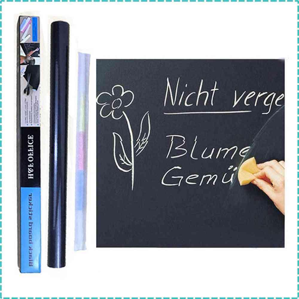 Blackboard Vinyl Peel And Stick Self Adhesive Chalkboard Wall Sticker